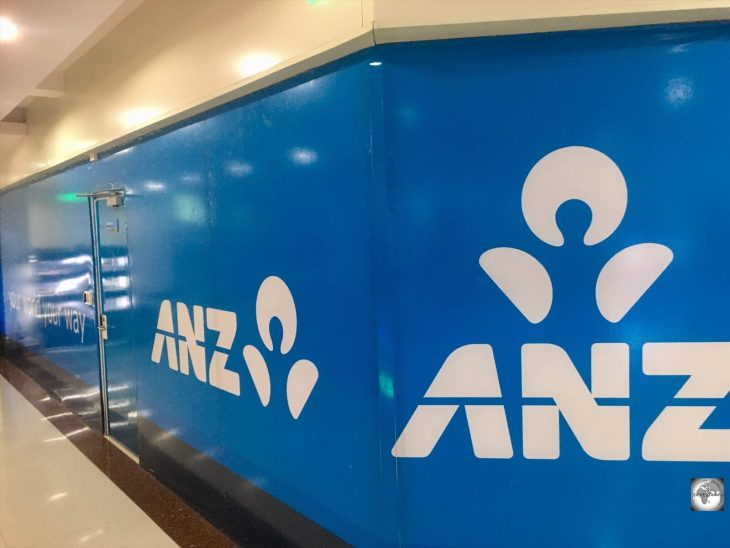 The now-closed Dili branch of the Australian bank, ANZ, which once offered services for MasterCard credit card holders.
