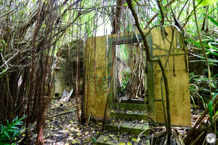 Abandoned prison cells of the Japanese WWII prison.
