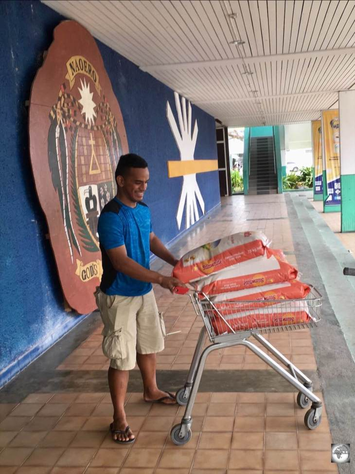 Covid-19 panic shopping even hit remote Nauru with locals buying up supplies of rice at the Civic Centre.