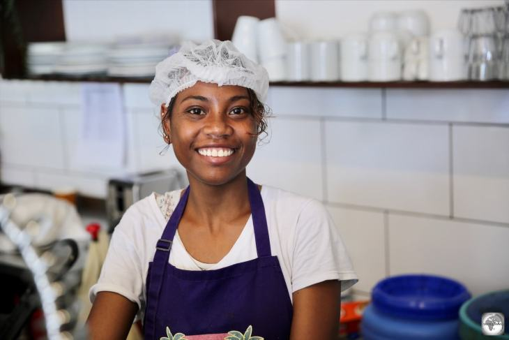 Always armed with an amazing smile, Doris is one of the friendly staff members at the Tropicana café.