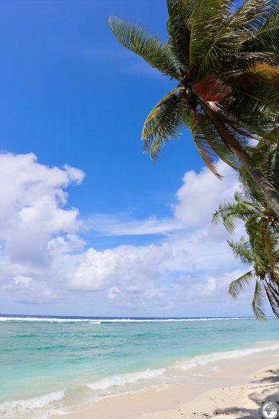 A view of Ewa beach, which lies on the north coast of Nauru.