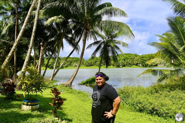 Visiting Buada Lagoon with my guide Ima.