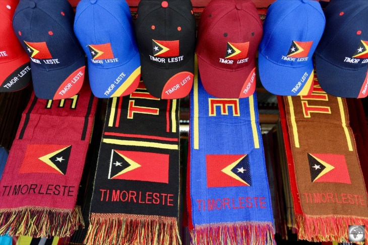 Timor-Leste souvenirs for sale in Dili. The country, which proclaimed its independence in 2002, is one of the world's youngest.