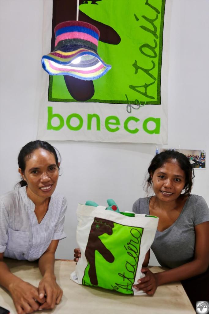 The staff at the Boneca de Ataúro boutique in downtown Dili.