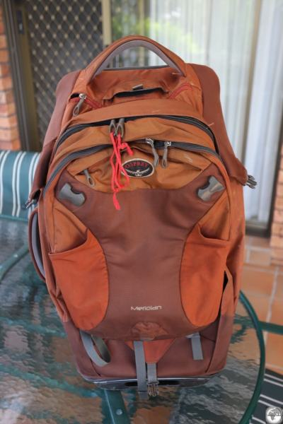 My Osprey Meridian after 6 years of continuous travel. Still in excellent conditioned except for some damage to the fabric on the rear upper corners.