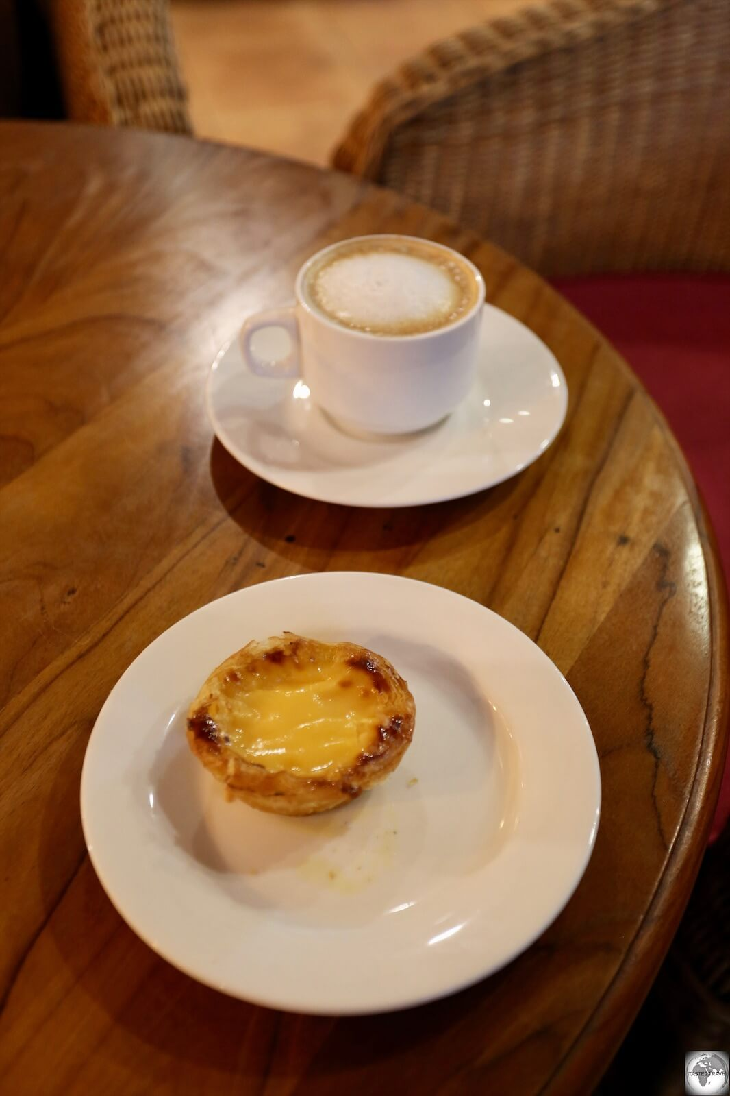 A very fine Portuguese egg tart, served at the Hotel Timor cafe.