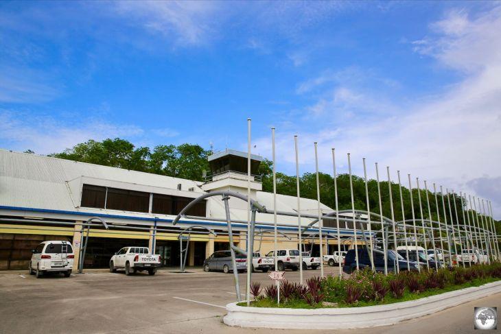 The Nauru International airport terminal building.
