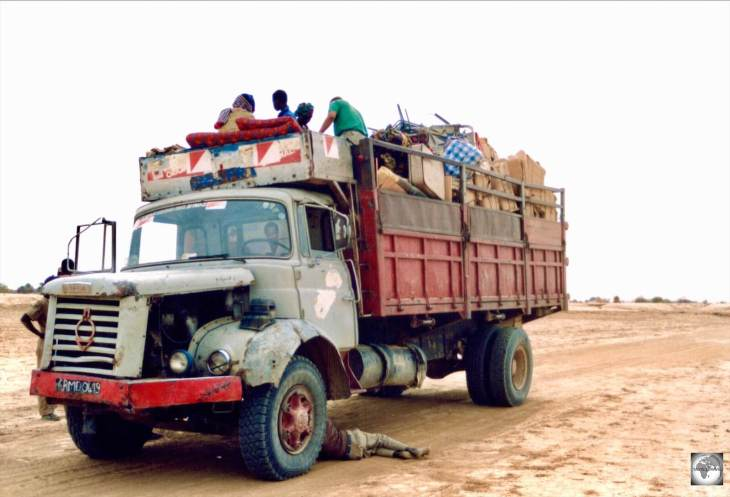On the road from Timbuktu - a journey of 2 days over 400 km following tracks through the Sahara.