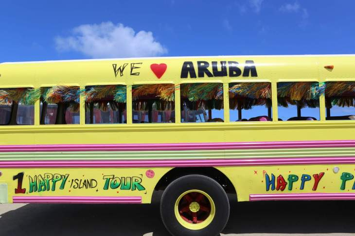 Party bus on Aruba.