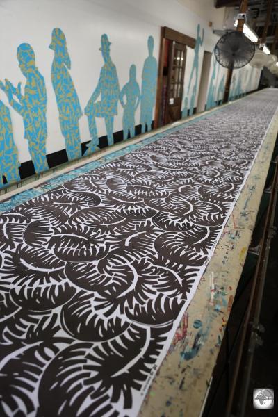 Hand-printed textiles at Bahamas Hand Prints, Nassau.
