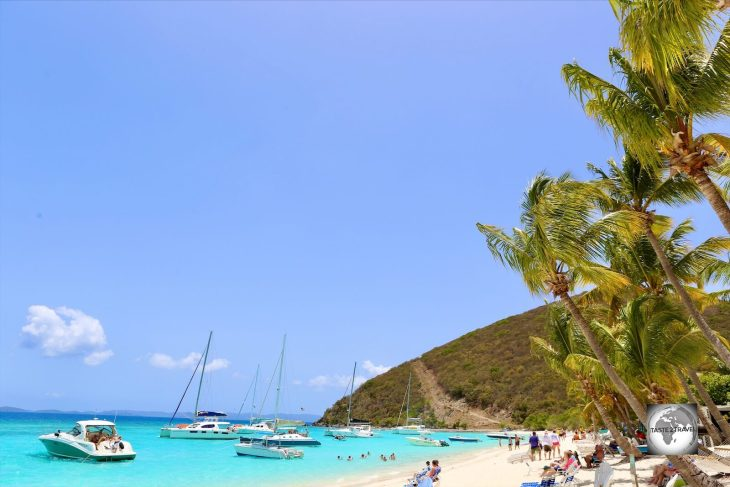 A view of White Bay Beach, Jost Van Dyke Island, BVI.