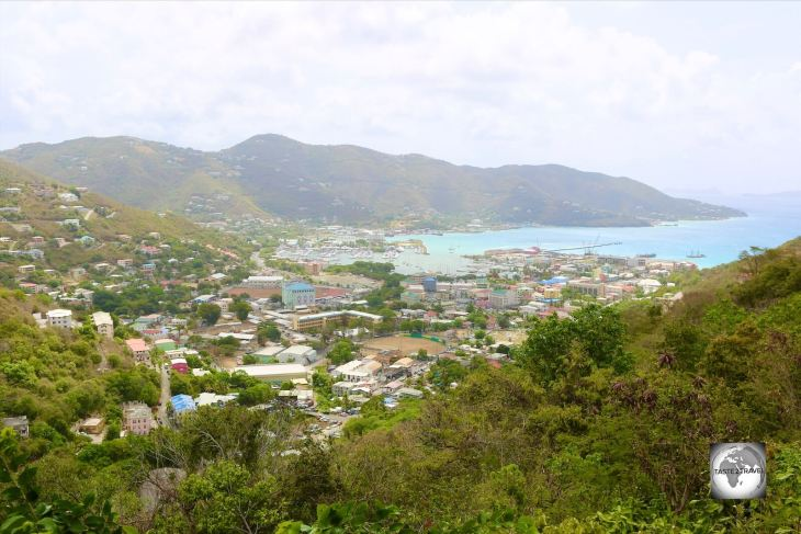 A view of Road Town, the capital of BVI.
