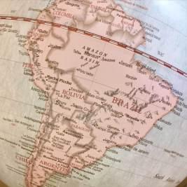 South America Globe Map