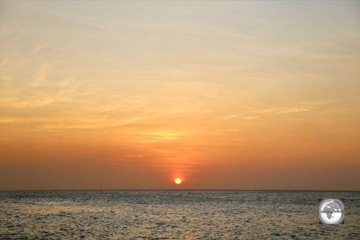 Sunset on Curaçao.