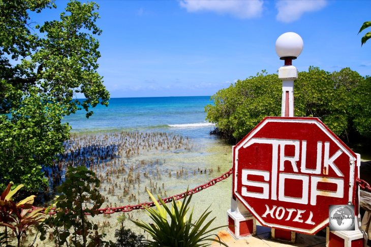 Chuuk Travel Guide: The Truk Stop Hotel at Chuuk, one of the few hotels on Chuuk.