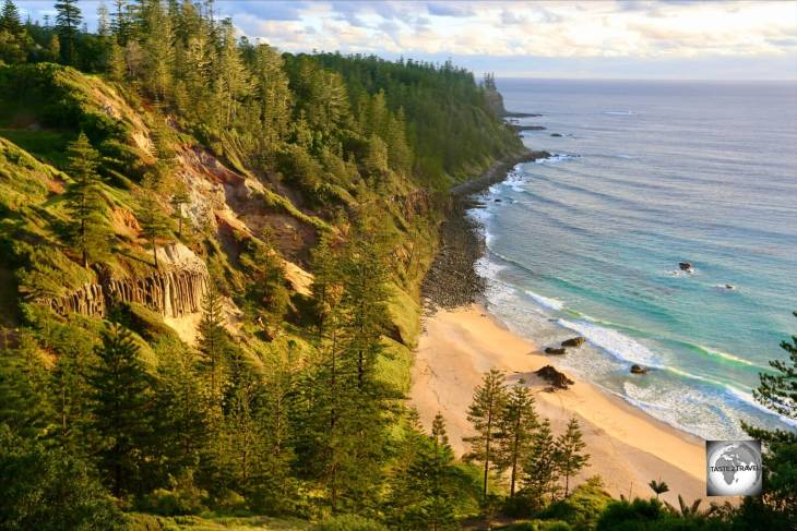 Anson bay is a popular surfing beach and the best place to view a sunset on Norfolk Island.