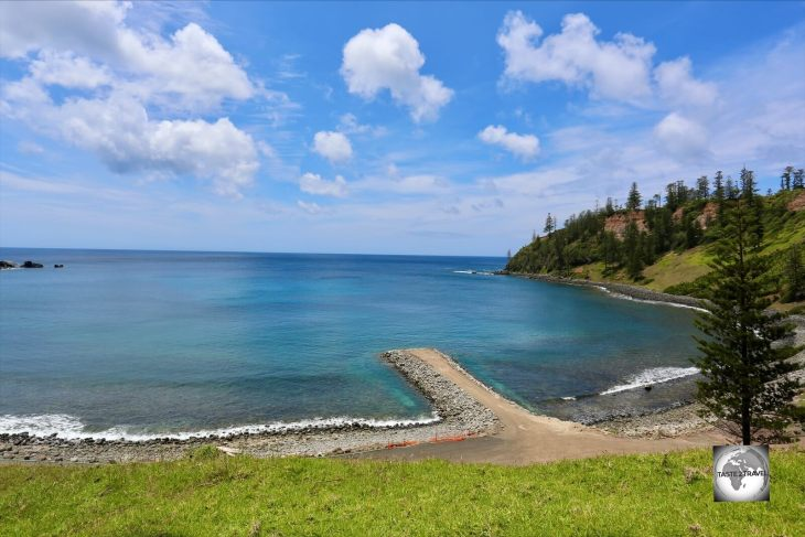 A view of Ball Bay on the east coast of Norfolk Island.