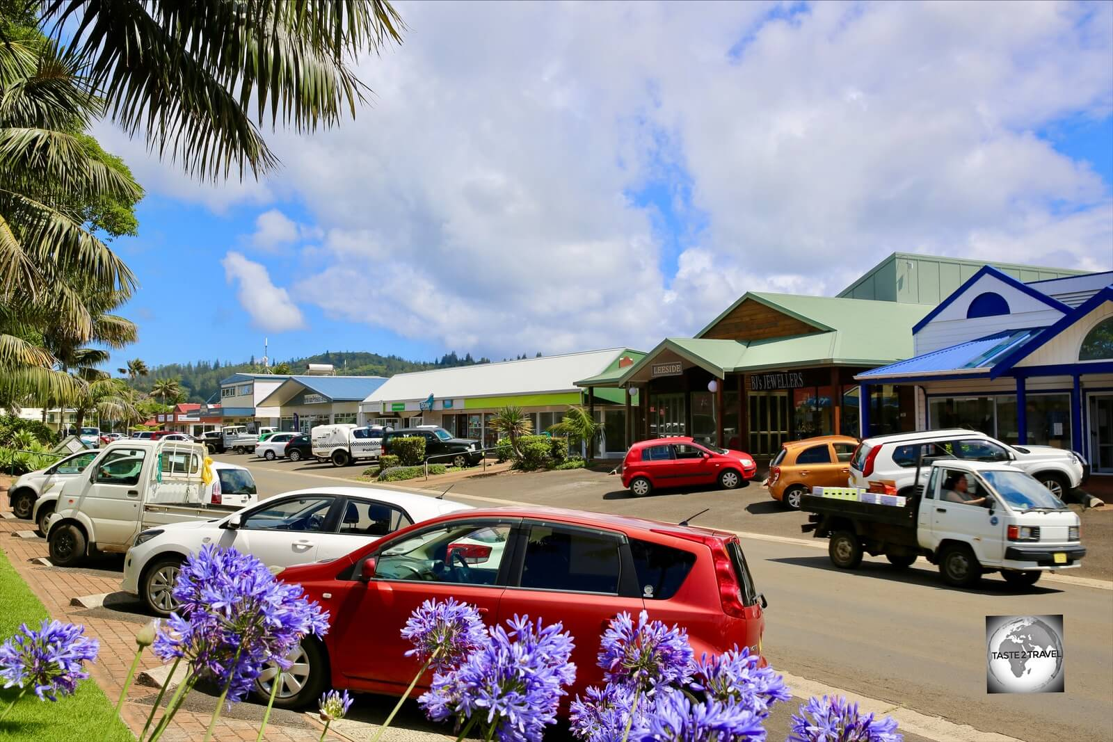 Burnt Pine is the one and only town on Norfolk Island.