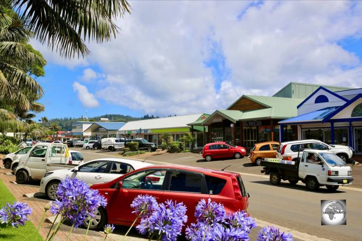 More like a village, Burnt Pine is the one and only town on Norfolk Island.
