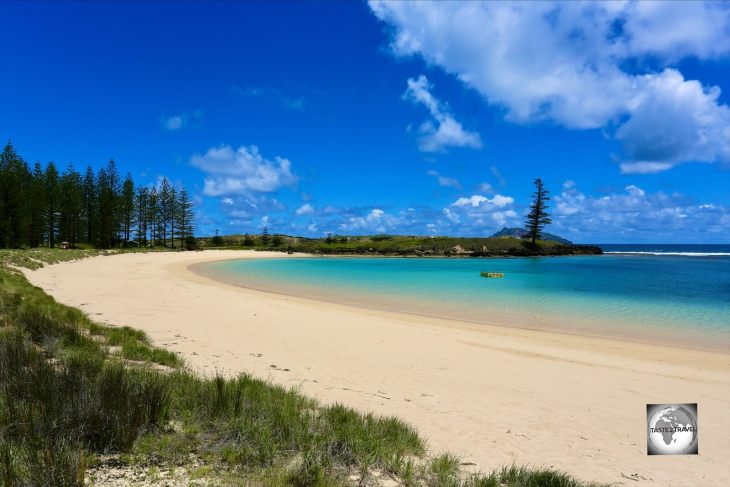 A view of Emily bay, Norfolk Island.