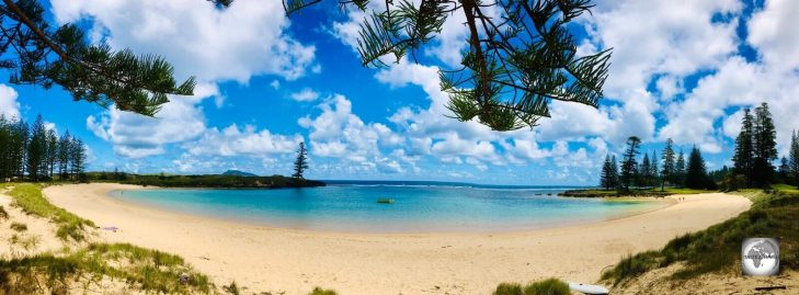 A view of Emily Bay, the most popular swimming beach on Norfolk Island.