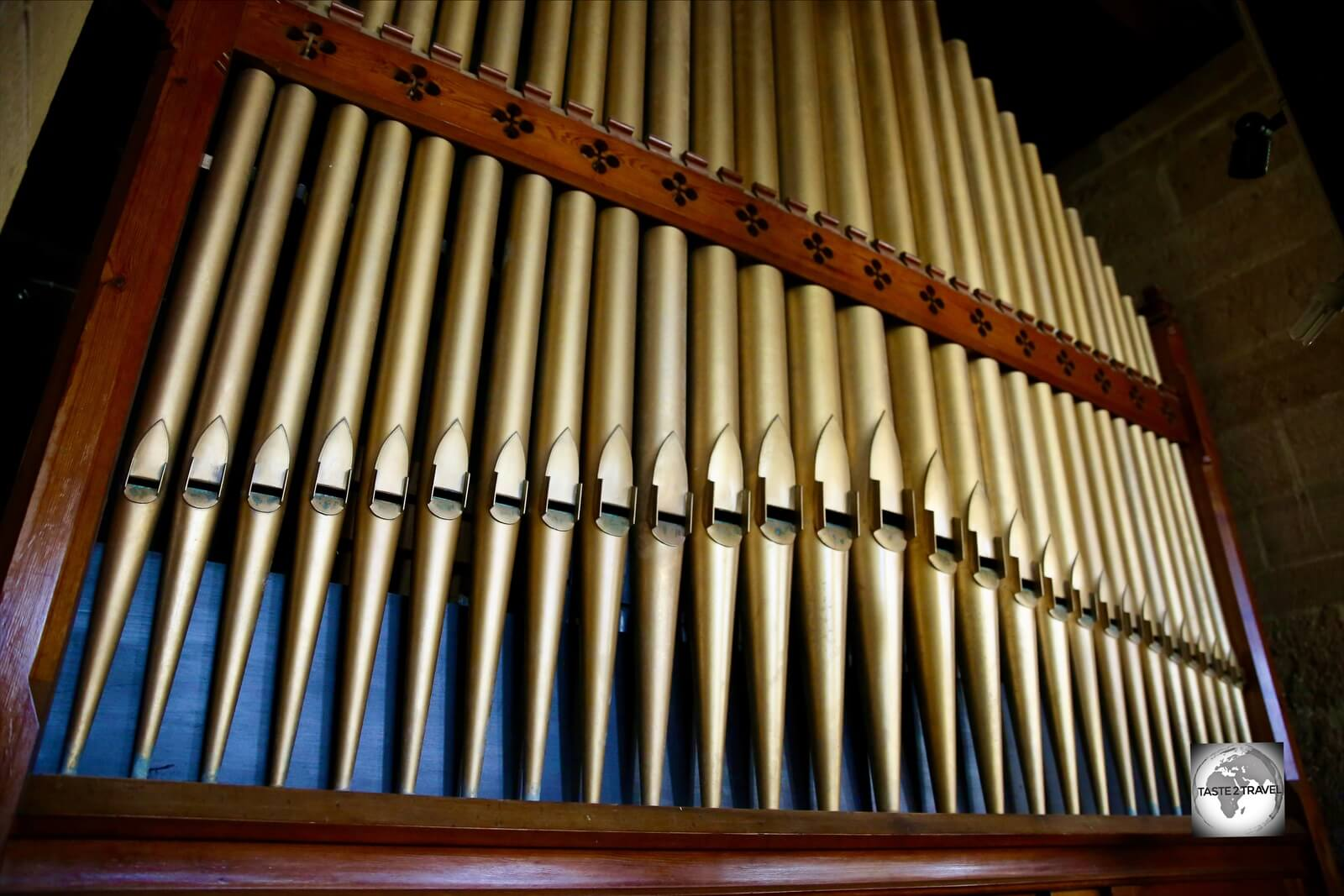 The 350 Willis pipe organ was built by Henry Willis & Sons of London in 1880 and shipped to the island in pieces.