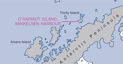 D'Hainaut Island location map.