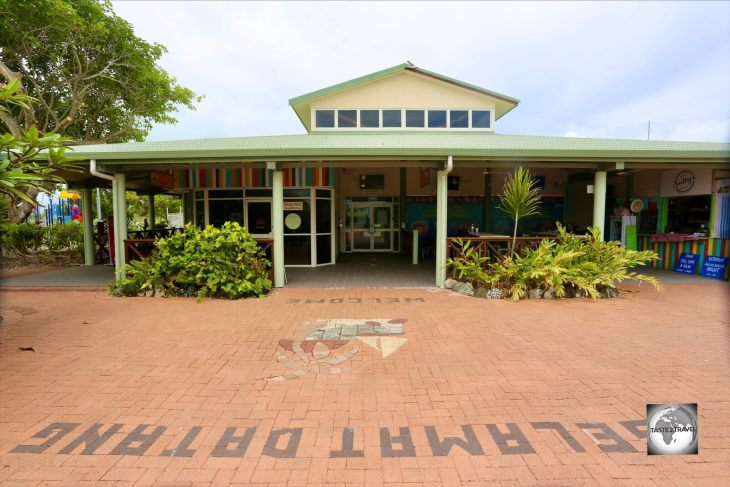 The Cocos (Keeling) airport terminal on West Island.