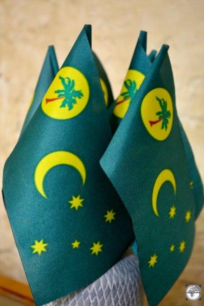 Souvenir flags of Cocos (Keeling) Islands.