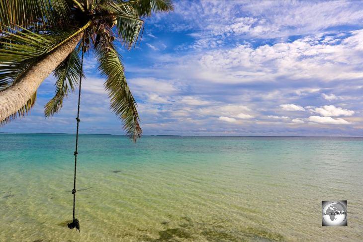 Sandy Point is the finest beach on Home Island.