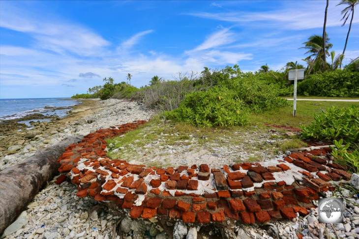 The remains of a watchtower on Home Island.