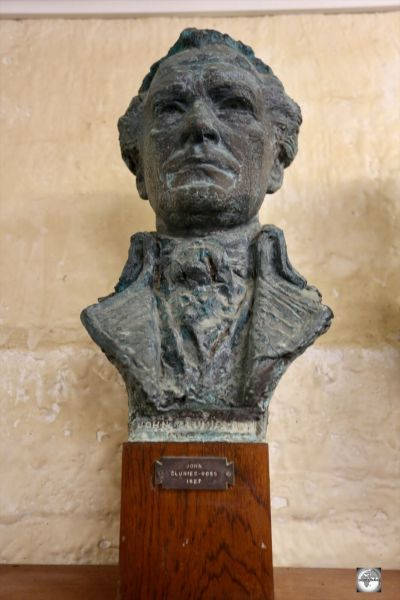 Now housed in the Home Island museum, this bust of John Clunies-Ross used to reside in the library at Oceania House.