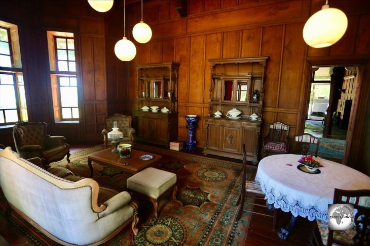 The drawing room at Oceania House.