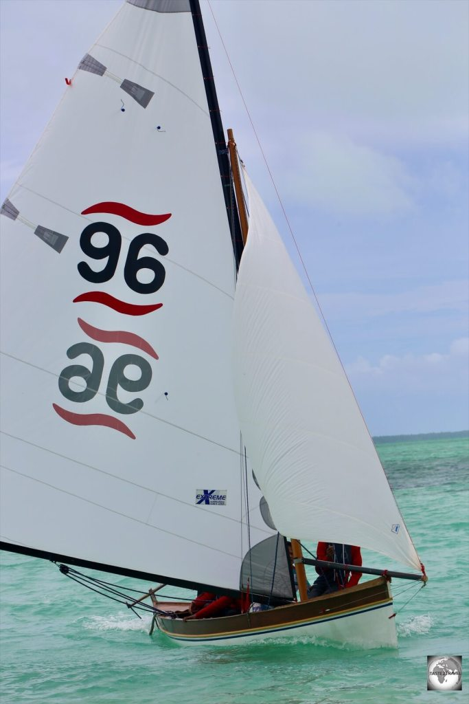 Jukong sailing race on Home Island, Cocos (Keeling) Islands.