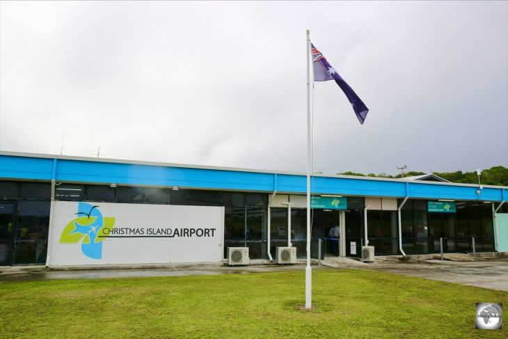 The terminal at Christmas Island airport.