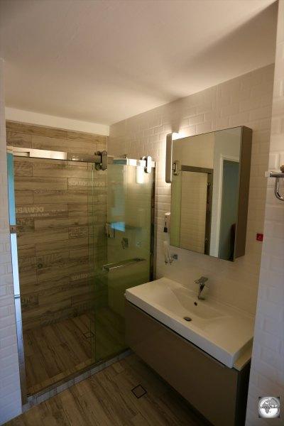 My bathroom at CI Apartments.