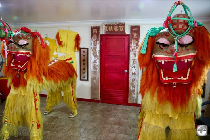 Displays at the Chinese Cultural Heritage Museum in The Settlement, on Christmas Island.