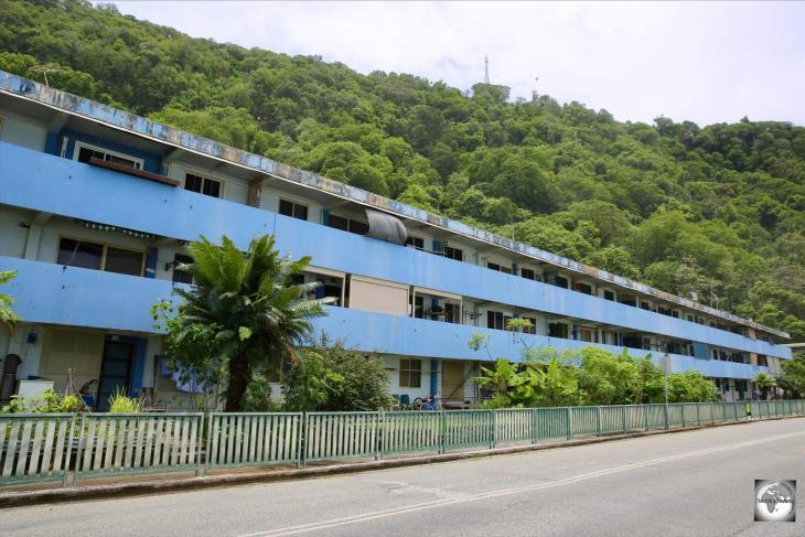 Singaporean HDB-style housing in Kampong.
