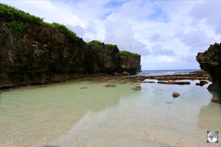 A view of Lily beach on Christmas Island.