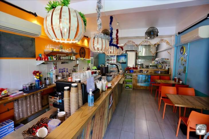 The interior of Smash cafe on Christmas Island.