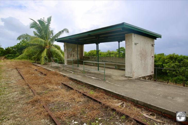 The abandoned railway station at South Point.