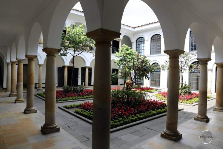 The courtyard of the Museo Botero in Bogota, the capital of Columbia, which lies at an elevation of 2,644 metres (8,675 feet).