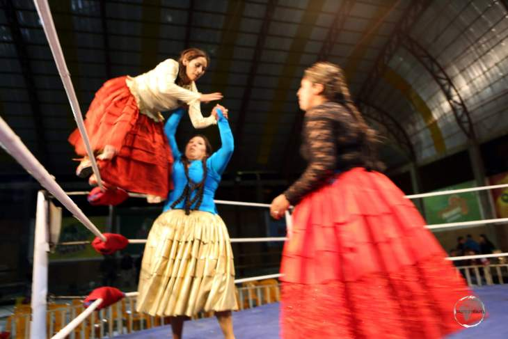 Watching a bunch of wrestling Cholitas do battle in the ring is perhaps the most unique and bizarre tourist attraction in La Paz.