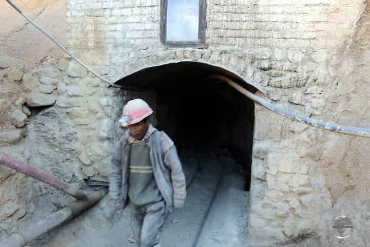 Entering the silver mine at Cerro Rico. Our tour, which lasted about 2 hours, took us deep underground into the tightest recesses of the mine and included a dynamite explosion.