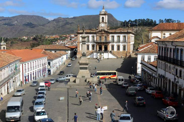 Ouro Preto is a colonial town in the Serra do Espinhaço mountains of eastern Brazil. Central Tiradentes Square is named after the martyr for Brazilian independence.