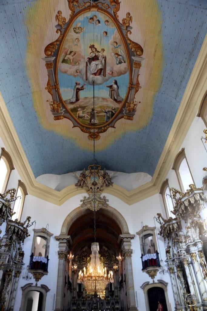 Interior of the Nossa Senhora do Carmo church, Ouro Preto, Brazil.