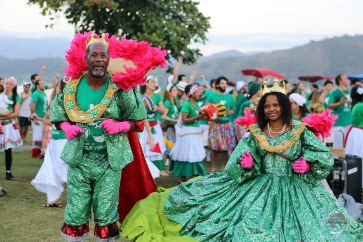 A festival in the historic coastal town of Paraty, a highlight of Rio de Janeiro state.