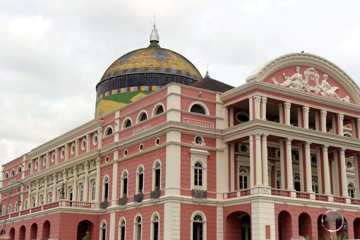 Dating from 1884, the spectacular Amazon Theatre is an opera house located in Manaus, in the heart of the Amazon rainforest in Brazil.