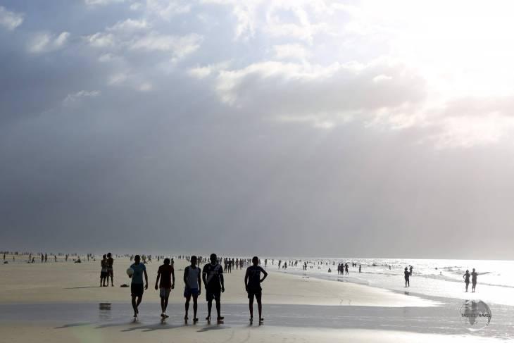 The never-ending, Praia de Araçagi, (Araçagi beach) is located a short drive from downtown São Luis, Maranhão state.