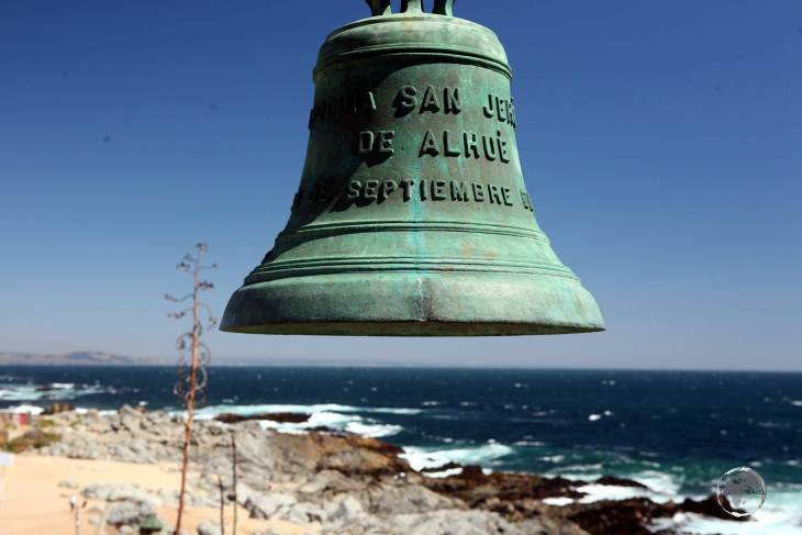 Designed to resemble a ship, the coastal residence of Chilean poet Pablo Neruda, Isla Negra, is filled with objects from old ships, including this impressive bell.